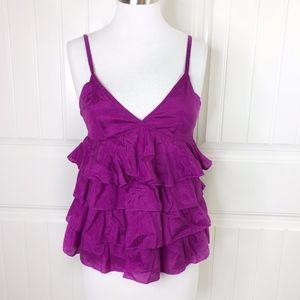 H&M Magenta Pink Purple Ruffle Cami Tank Top